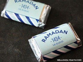 Ramadan Chocolate Wrapper Free Printable