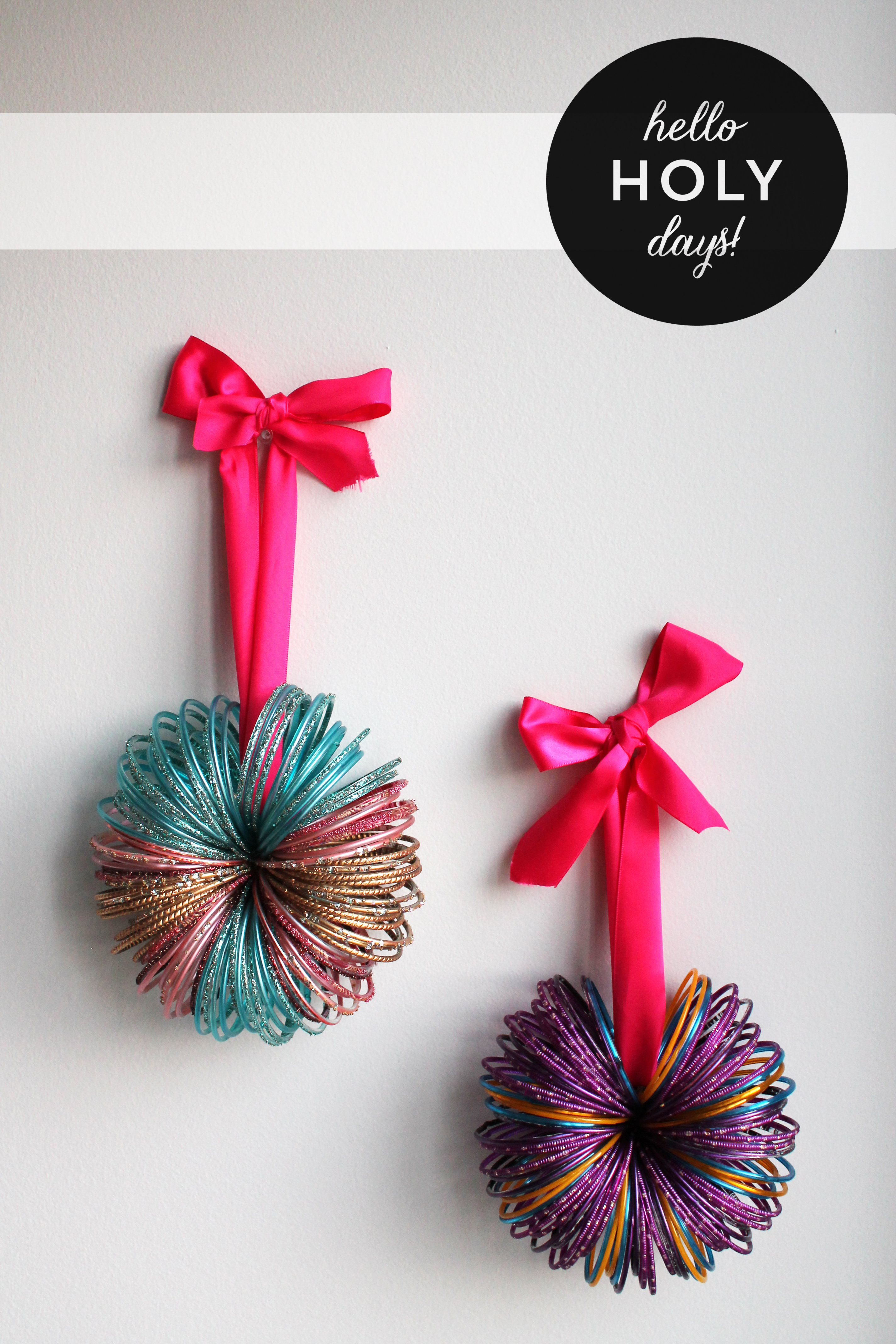 Bangles decoration hello holy days for Eid decorations to make at home