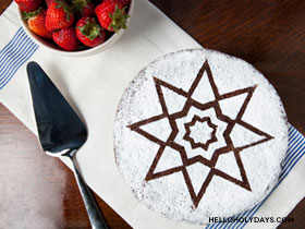 8 Pointed Star Cake