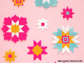 Perler Bead 8 Pointed Star
