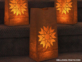 8 Pointed Star Carnation Luminaries
