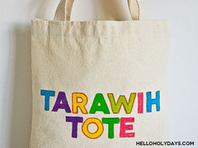 Ramadan Fabric Markers Tote Bag
