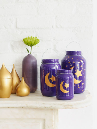 Ramadan Glass Jar Lanterns