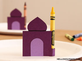 Ramadan Kids' Table Crayons
