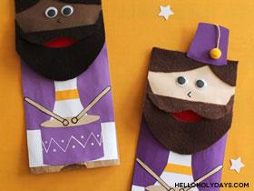 Ramadan Drummer Paper Bag Puppets