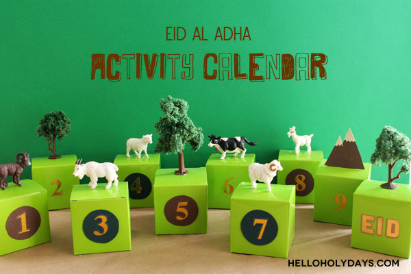 Eid Al Adha children's activity calendar by Hello Holy Days!