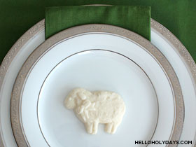 Chocolate Lamb Place Settings