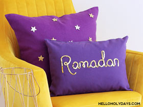 Ramadan and Eid DIY Throw Pillows