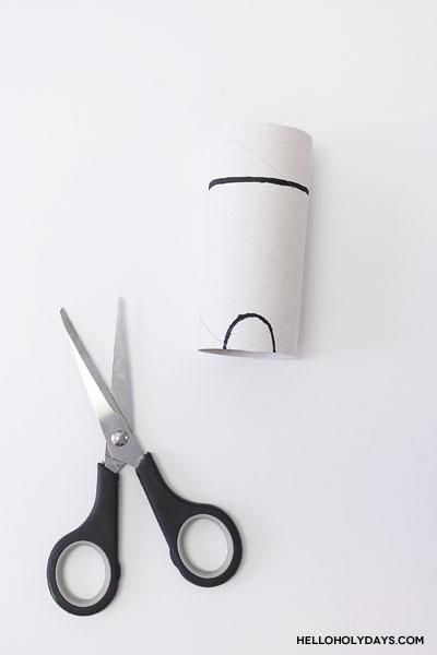 Paper tube ram craft for Eid al Adha