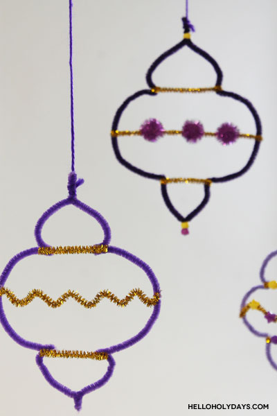 Pretty Pipe Cleaner Ramadan Lanterns Craft Tutorial by Hello Holy Days!