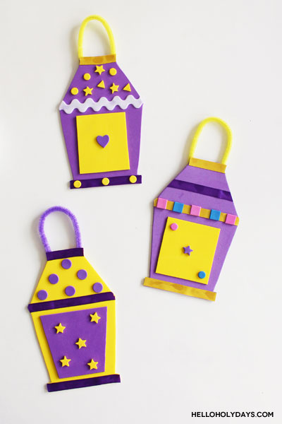 Ramadan Foam Lanterns Craft with Free Template by Hello Holy Days!