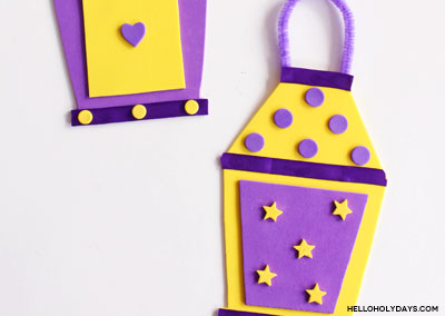 Ramadan Foam Lanterns Craft