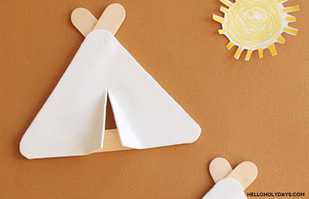 Popsicle Stick Hajj Tents