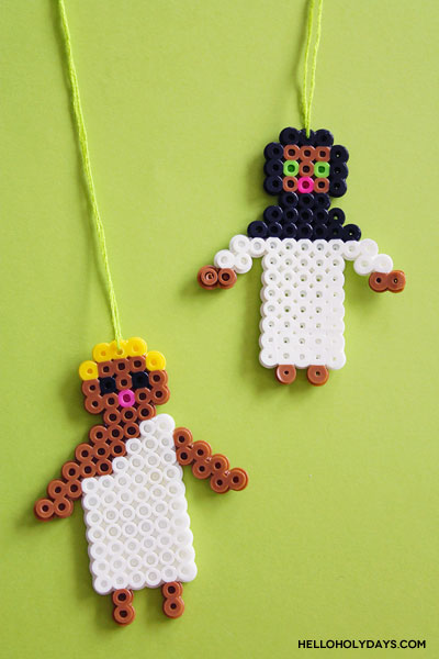 DIY Eid al Adha Jewelry by Hello Holy Days! Pilgrim shaped necklaces using Perler beads!