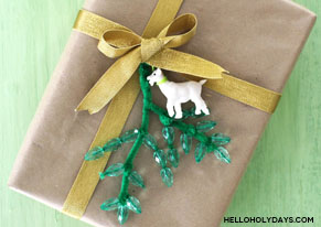 Festive Goat Gift Topper