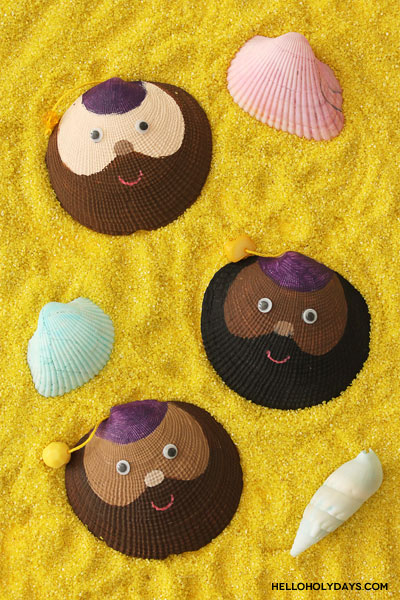 Ramadan Drummer Seashells Craft by Hello Holy Days!