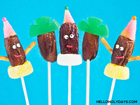 Date and Candy Lollipops