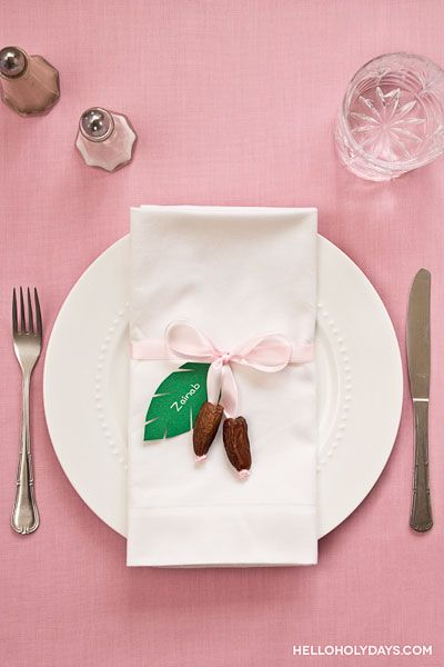 Ramadan Ideas: Date Place Setting - Hello Holy Days!