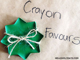 8 Pointed Star Crayons