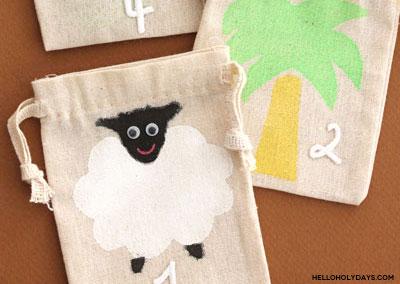 DIY Eid al Adha Calendar with Fabric Bags