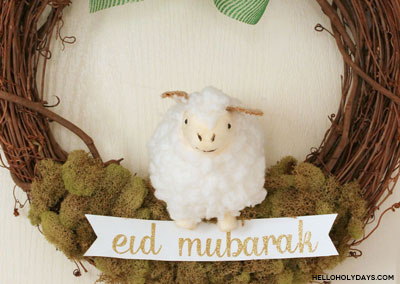 Simple Eid al Adha Sheep Wreath