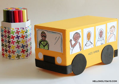 Hajj bus craft by Hello Holy Days!