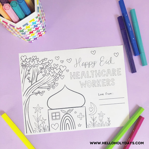 Free Printable Coloring Sheet COVID-19